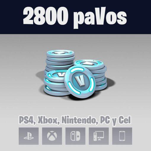 2800 pavos fortnite